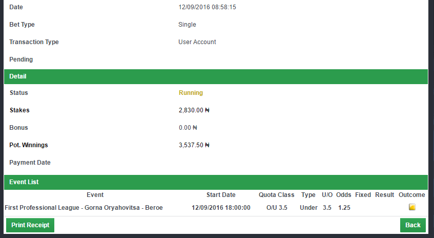 Day 6 1 2 Odds Winning Challenge – Confirmbets – Football
