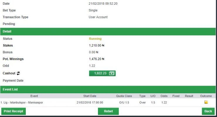 1.2 odds rollover