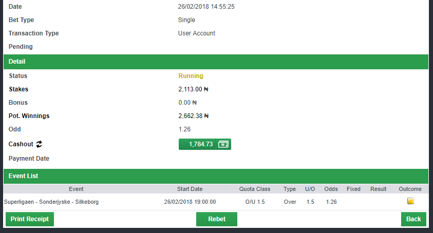 1.2 odds rollover challenge