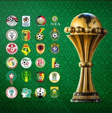 Africa cup of nations trophy and competing teams