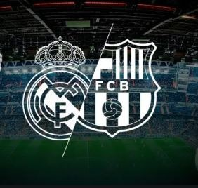 barcelona and real madrid  logos