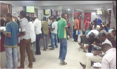 Image of people betting in a shop